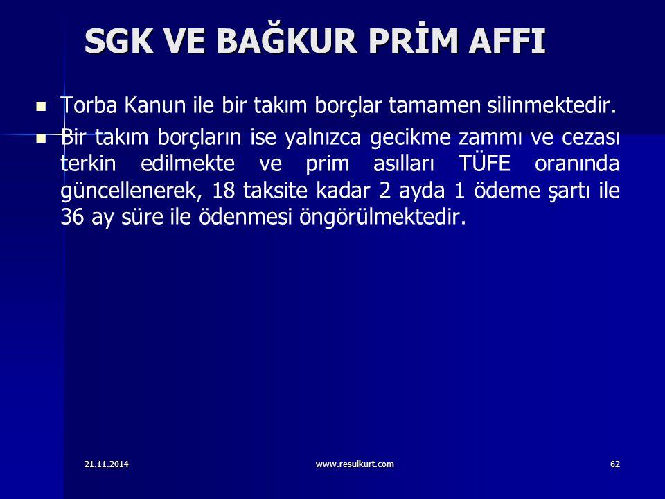 SGK VE BAĞKUR PRİM AFFI Torba Kanun ile bir takım borçlar tamamen silinmektedir.