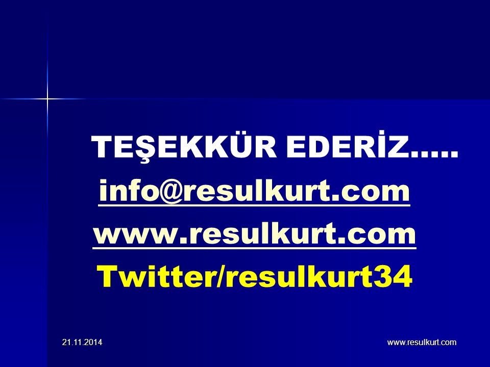 info@resulkurt.com www.resulkurt.com Twitter/resulkurt34