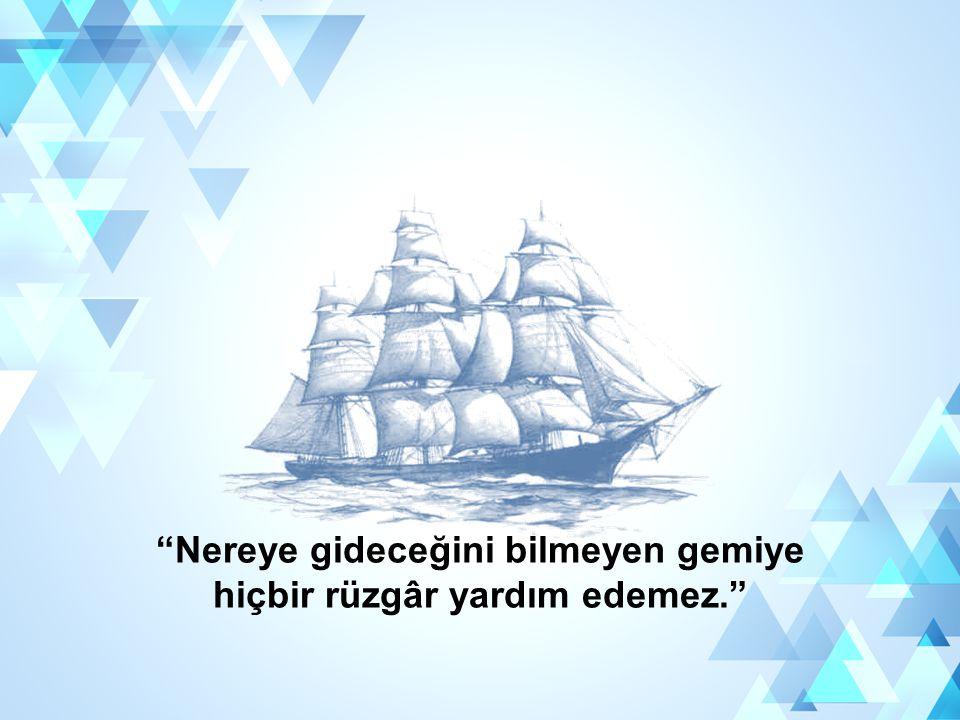 Nereye gideceğini bilmeyen gemiye hiçbir rüzgâr yardım edemez.