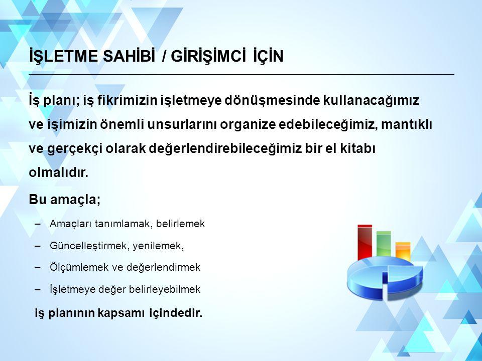 İŞLETME SAHİBİ / GİRİŞİMCİ İÇİN
