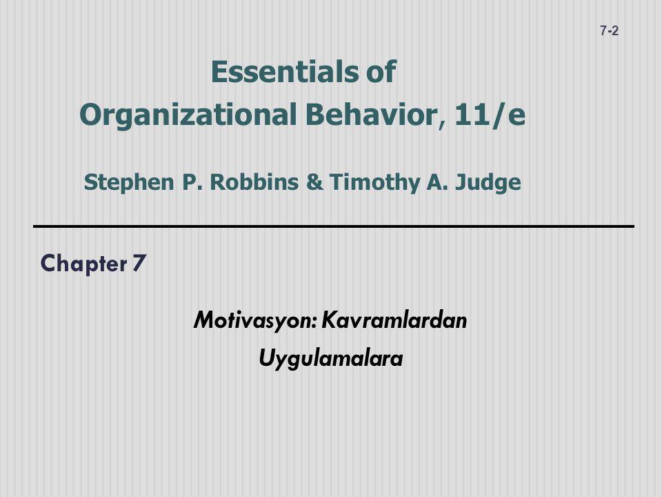 Chapter 7 Motivasyon: Kavramlardan Uygulamalara