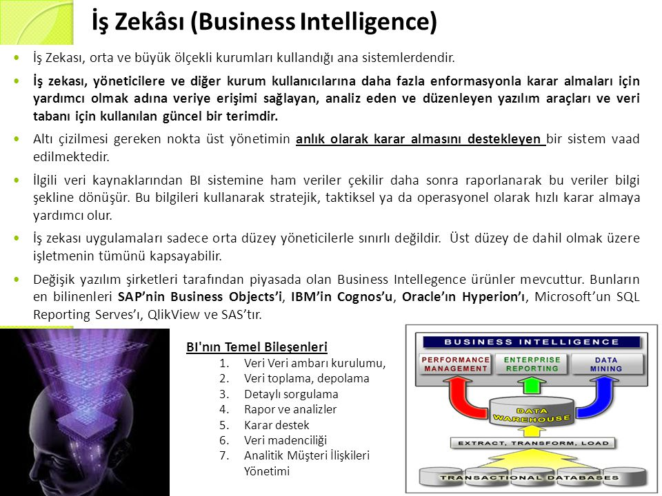 İş Zekâsı (Business Intelligence)