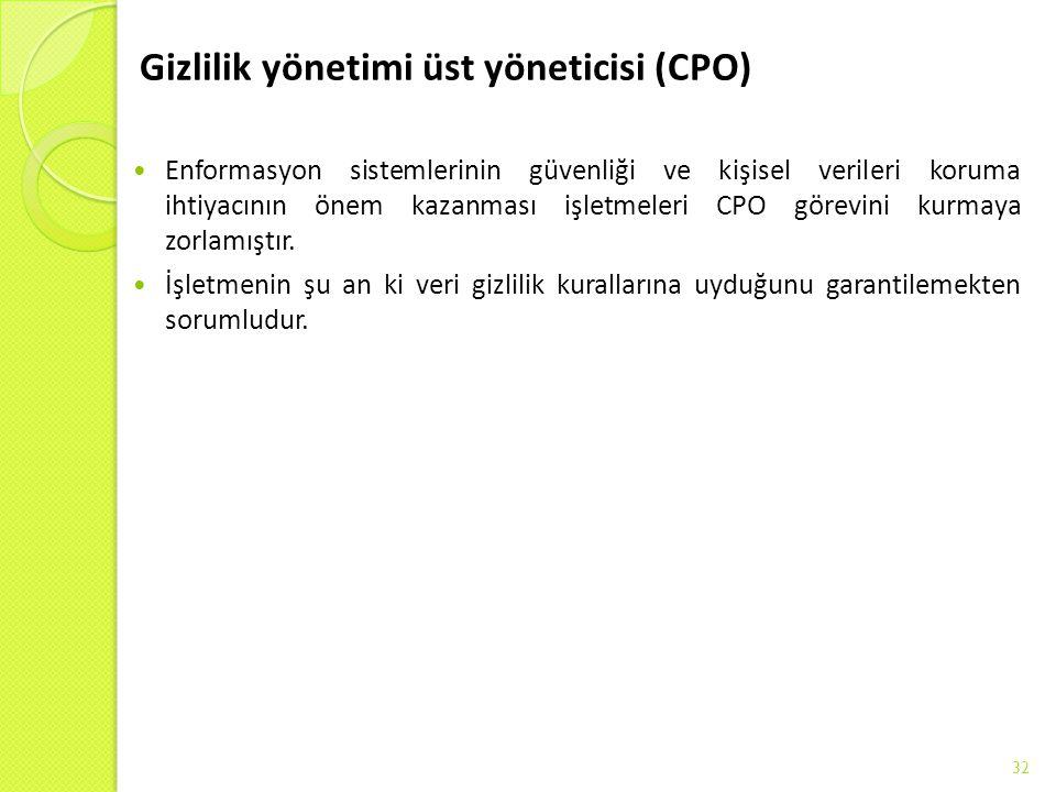 Gizlilik yönetimi üst yöneticisi (CPO)