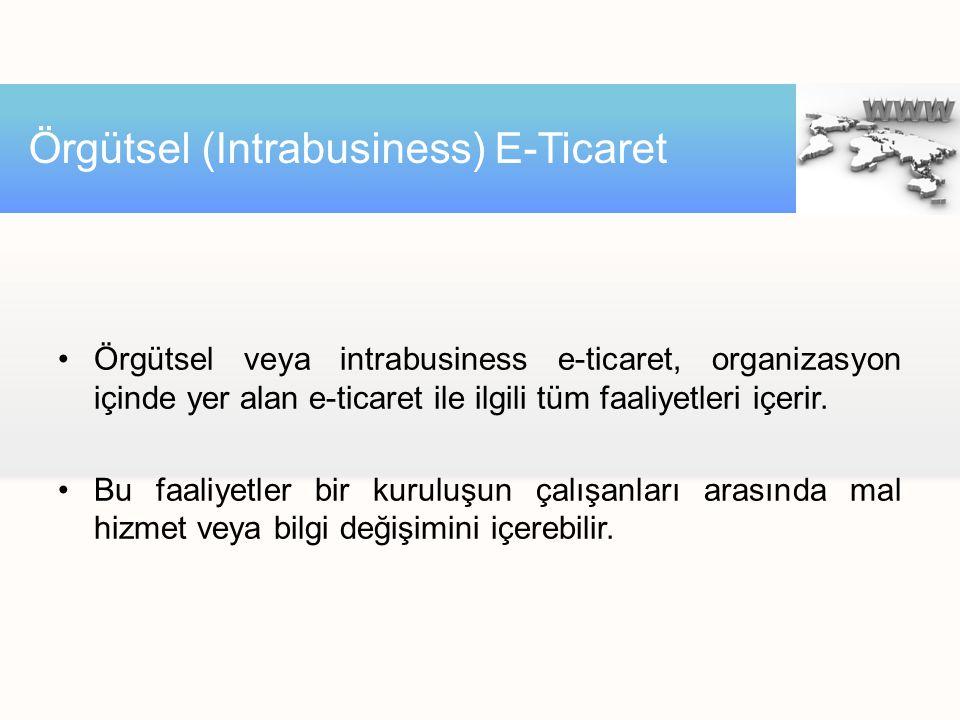 Örgütsel (Intrabusiness) E-Ticaret