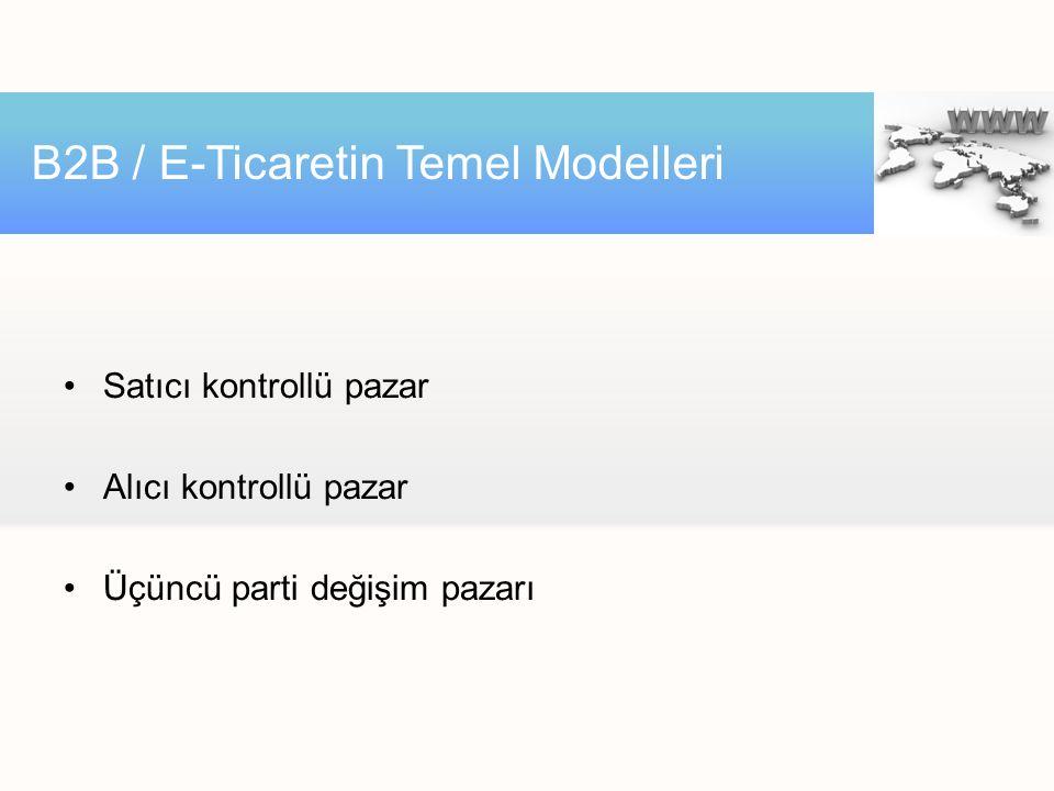 B2B / E-Ticaretin Temel Modelleri