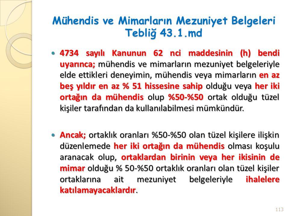 Mühendis ve Mimarların Mezuniyet Belgeleri Tebliğ 43.1.md