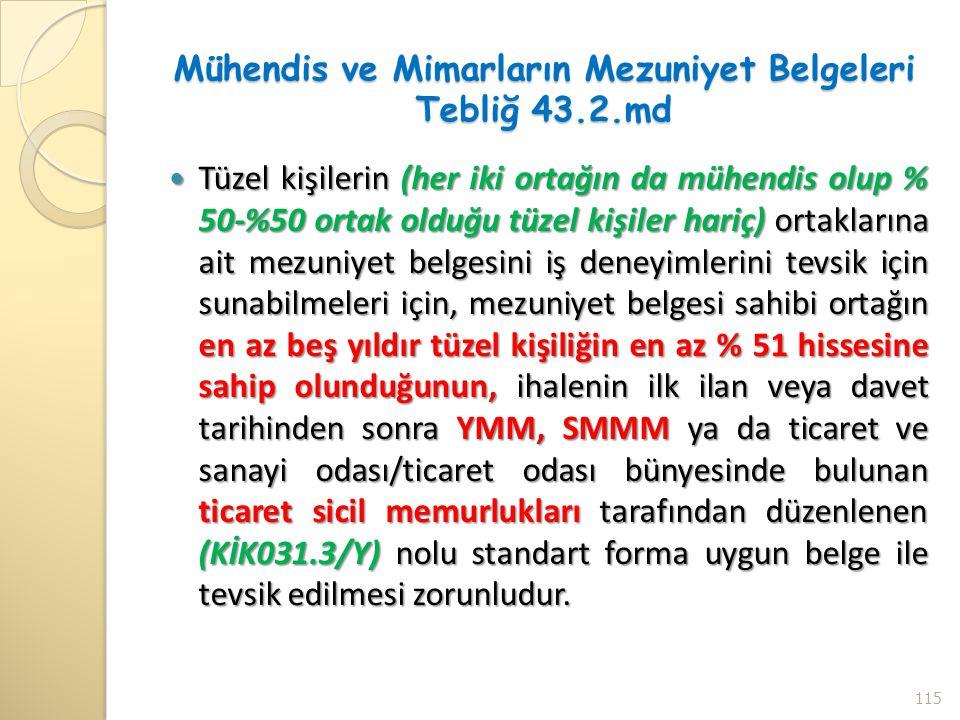 Mühendis ve Mimarların Mezuniyet Belgeleri Tebliğ 43.2.md