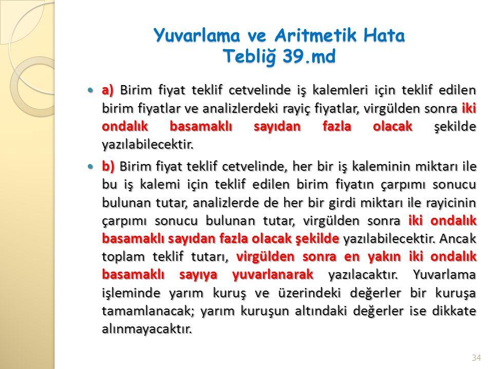 Yuvarlama ve Aritmetik Hata Tebliğ 39.md