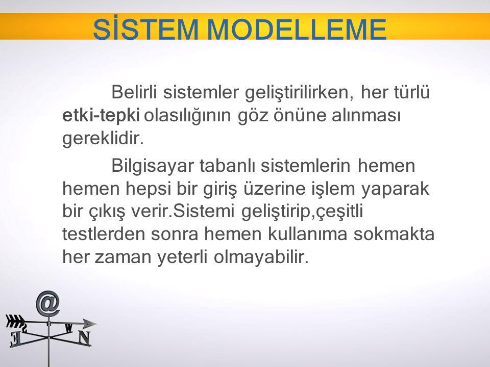 SİSTEM MODELLEME