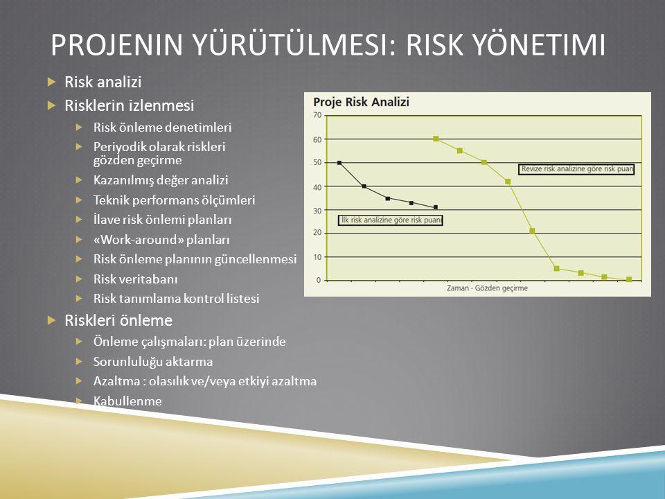 Projenin yürütülmesi: risk Yönetimi