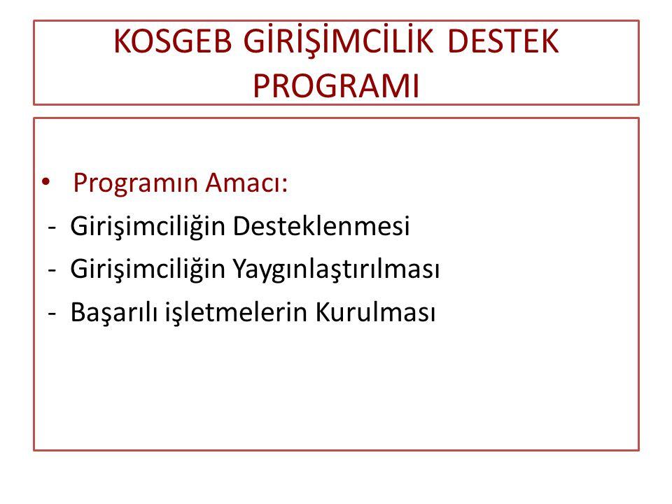 KOSGEB GİRİŞİMCİLİK DESTEK PROGRAMI