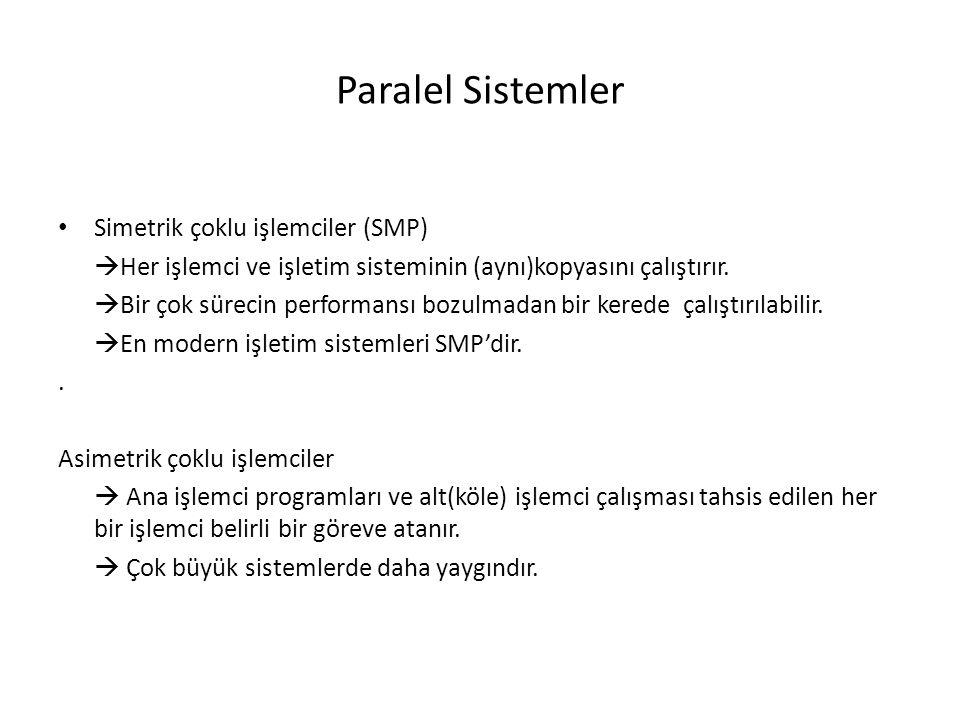 Paralel Sistemler Simetrik çoklu işlemciler (SMP)