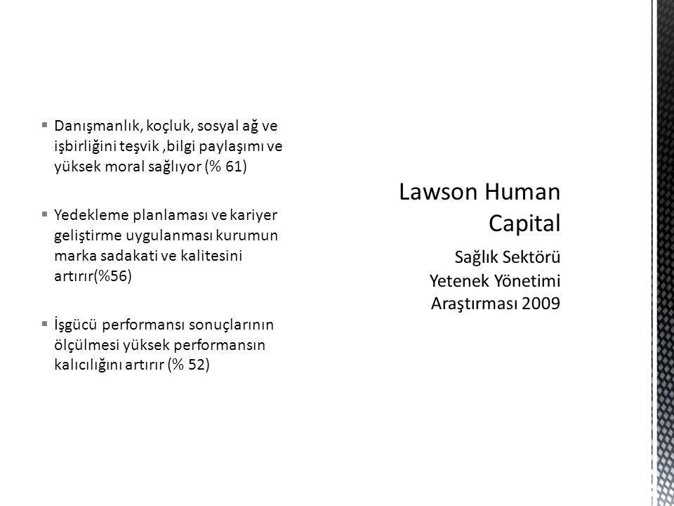 Lawson Human Capital Sağlık Sektörü Yetenek Yönetimi Araştırması 2009