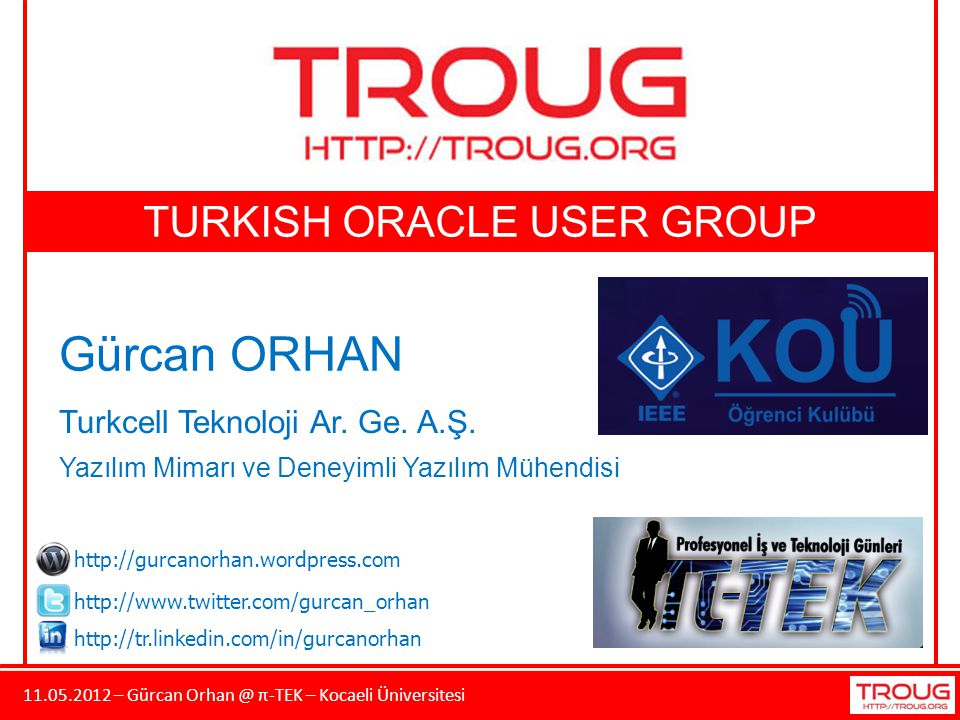 TURKISH ORACLE USER GROUP