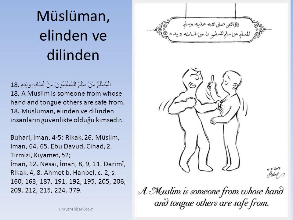 Müslüman, elinden ve dilinden