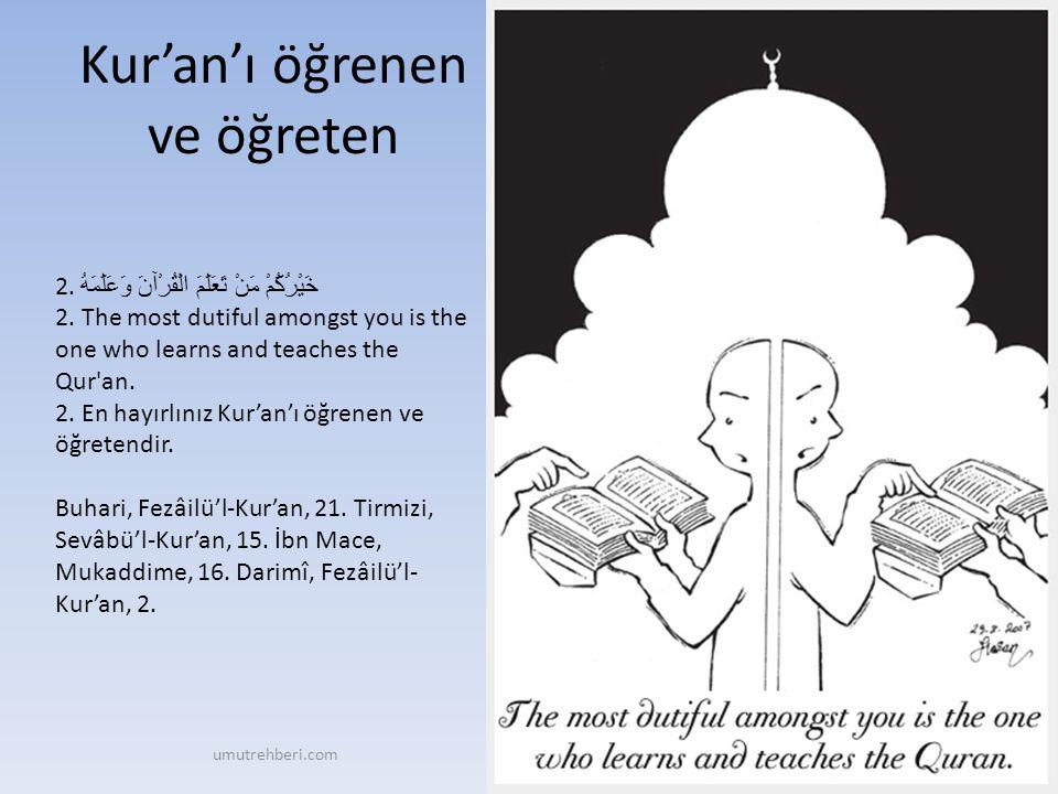 Kur'an'ı öğrenen ve öğreten
