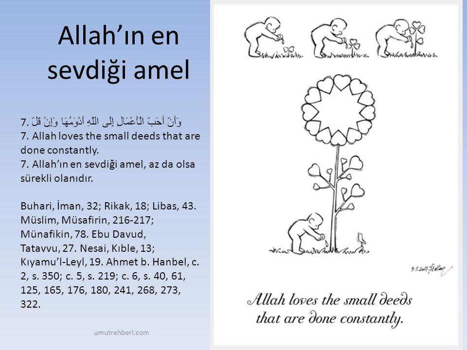 Allah'ın en sevdiği amel