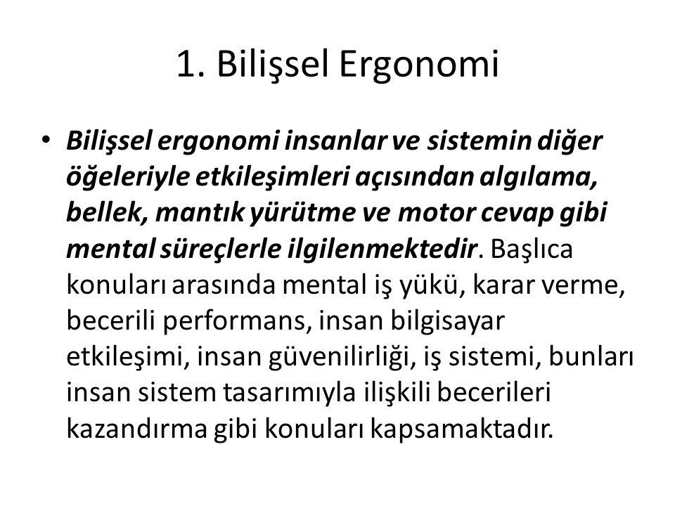 1. Bilişsel Ergonomi