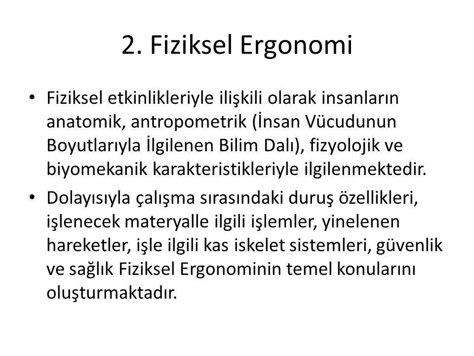 2. Fiziksel Ergonomi