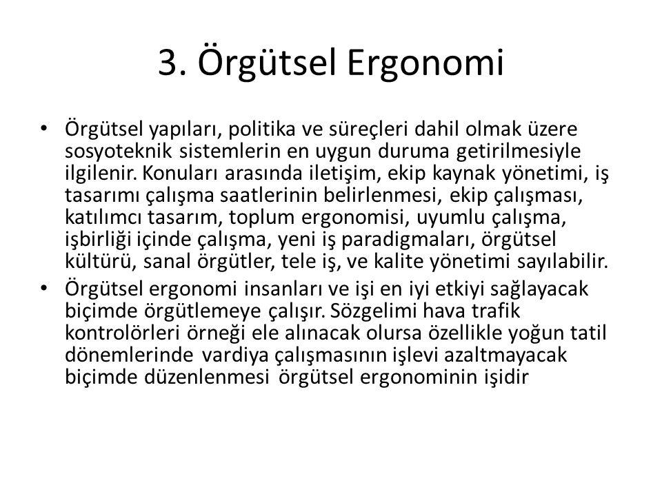 3. Örgütsel Ergonomi