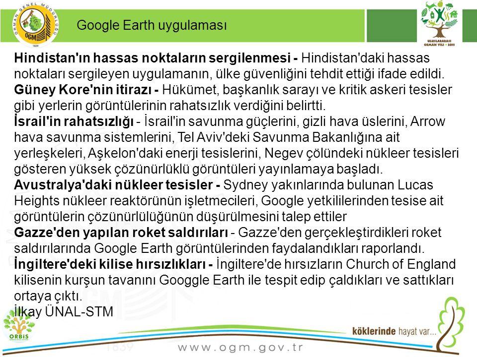 Google Earth uygulaması