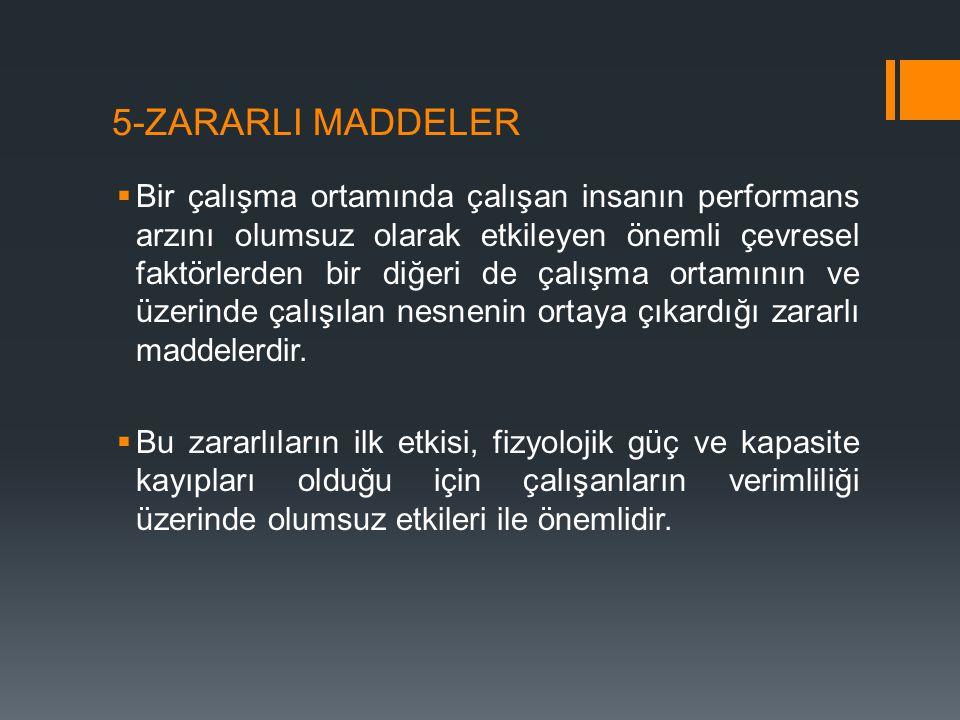 5-ZARARLI MADDELER