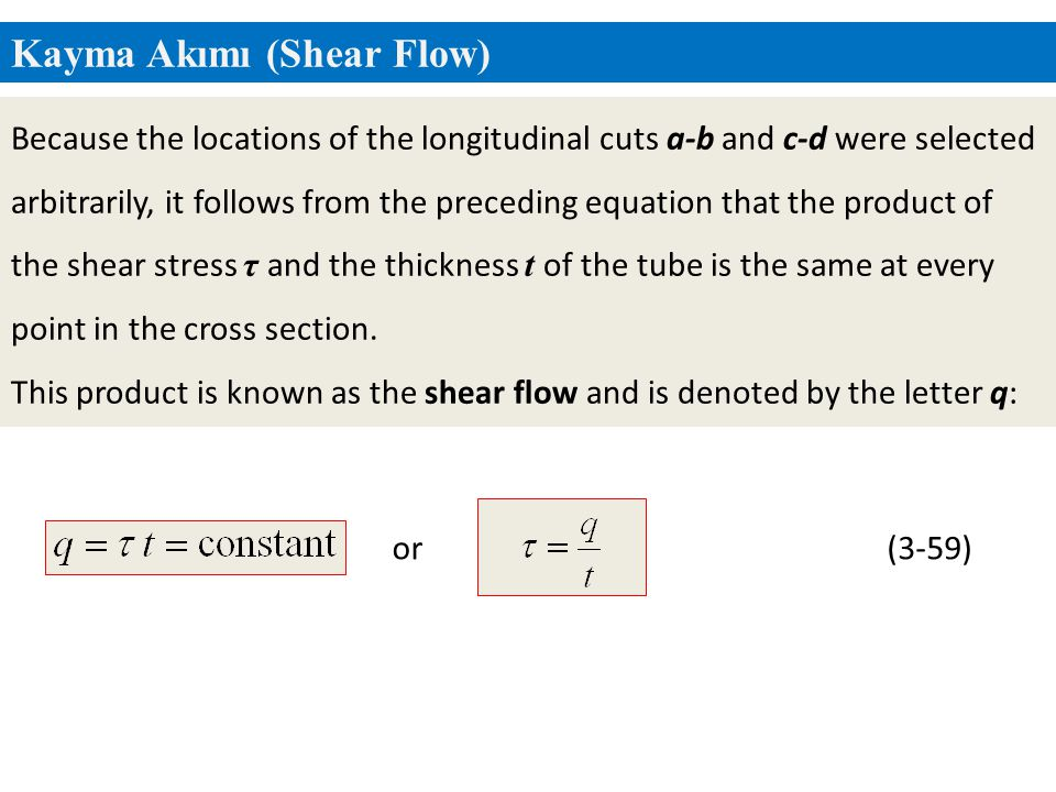 Kayma Akımı (Shear Flow)