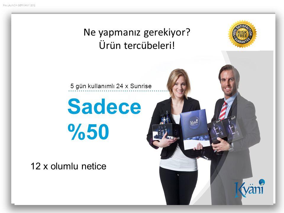 Sadece %50 Ne yapmanız gerekiyor Ürün tercübeleri! 12 x olumlu netice