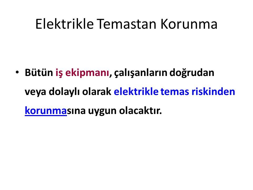 Elektrikle Temastan Korunma