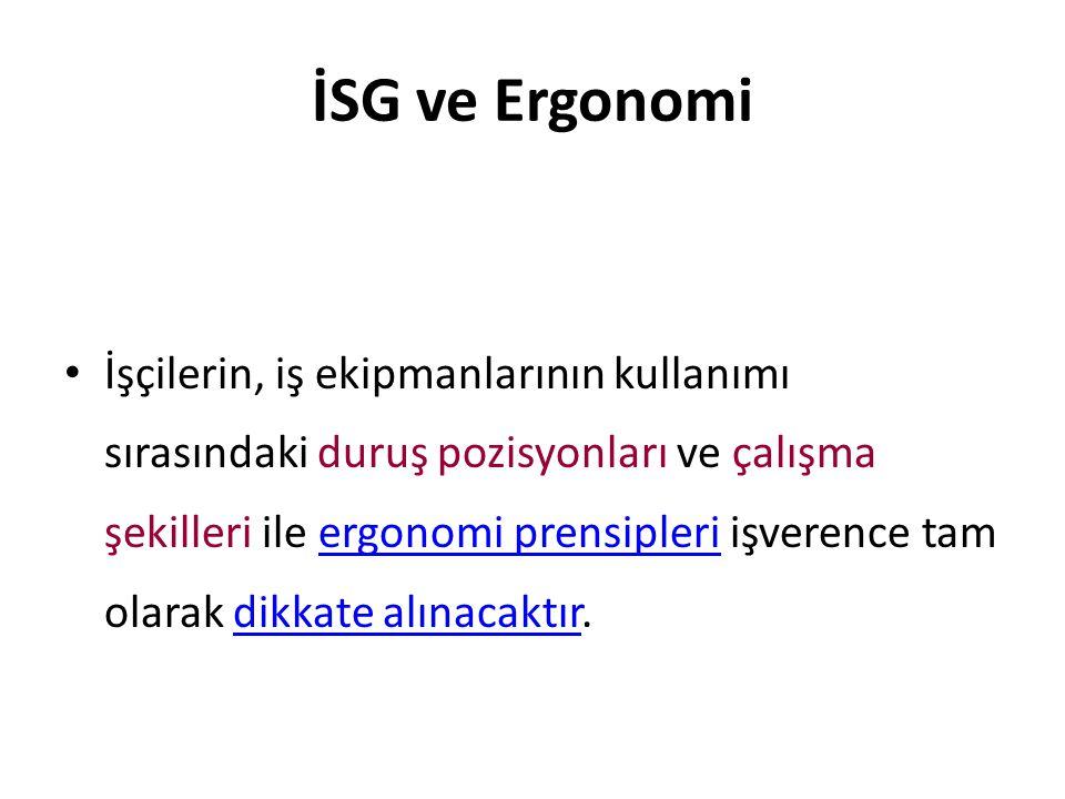 İSG ve Ergonomi