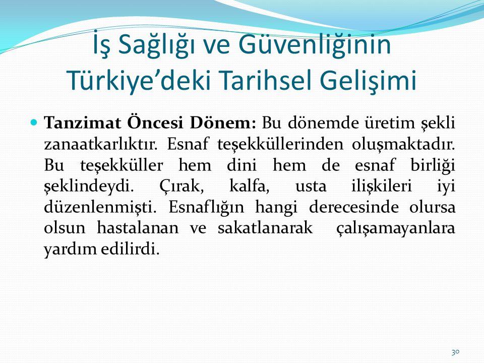 İş Sağlığı ve Güvenliğinin Türkiye'deki Tarihsel Gelişimi