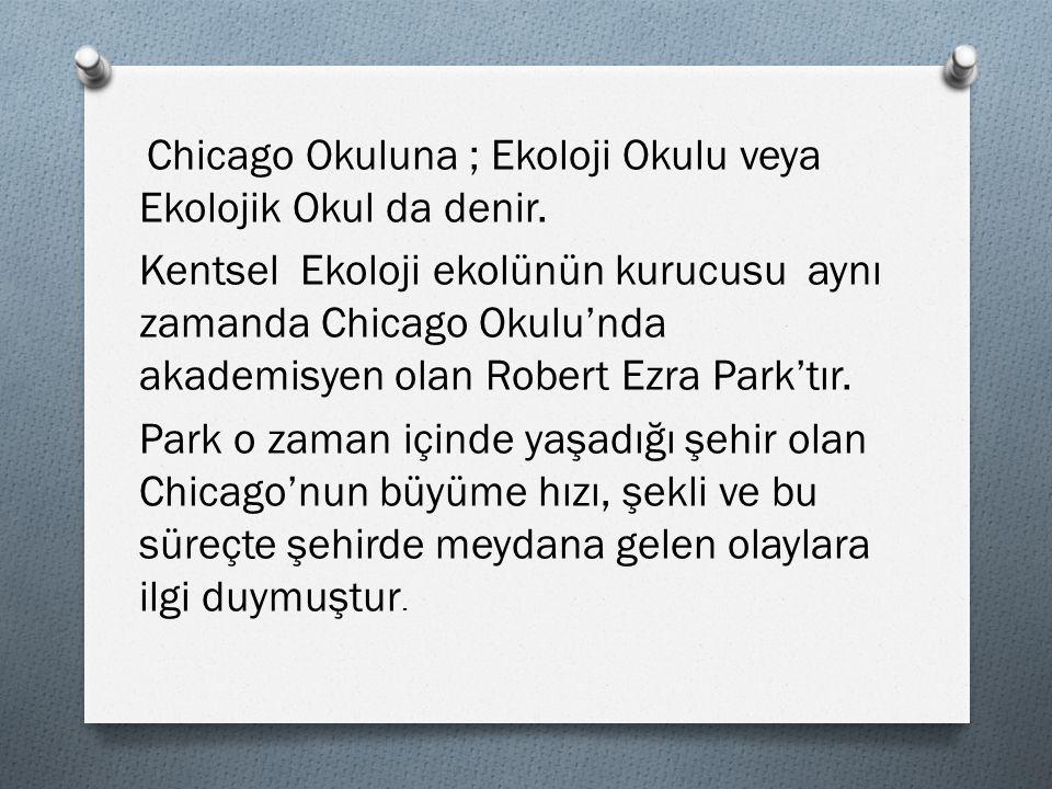 Chicago Okuluna ; Ekoloji Okulu veya Ekolojik Okul da denir.