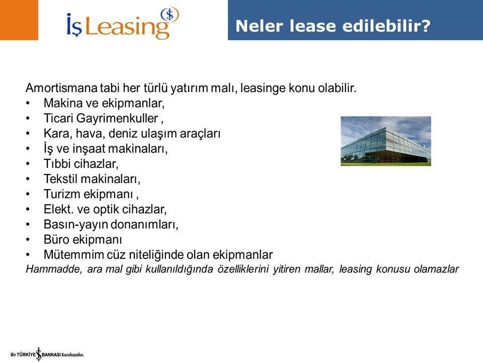 Neler lease edilebilir