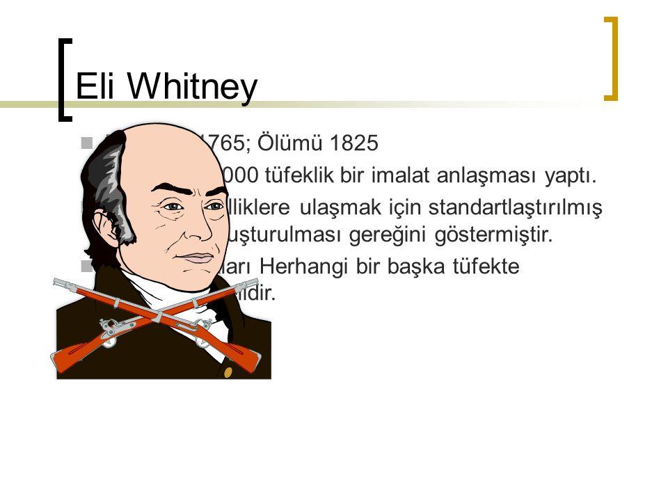 Eli Whitney Doğumu 1765; Ölümü 1825