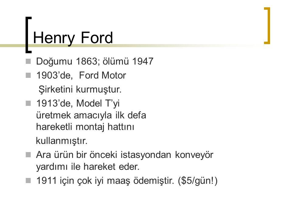 Henry Ford Doğumu 1863; ölümü 1947 1903'de, Ford Motor