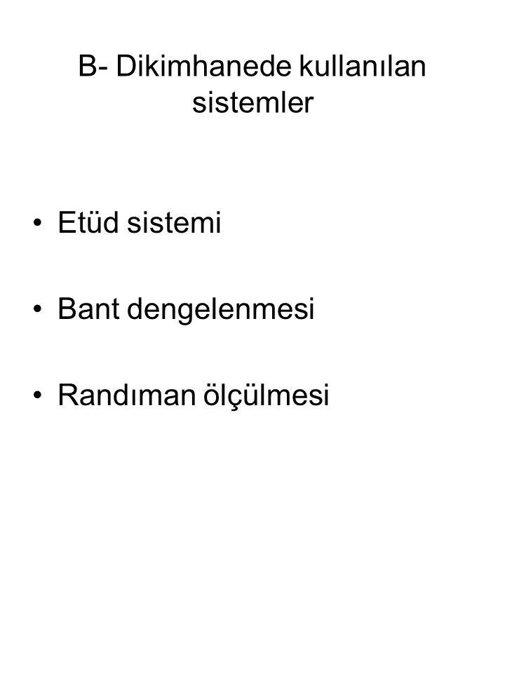 B- Dikimhanede kullanılan sistemler