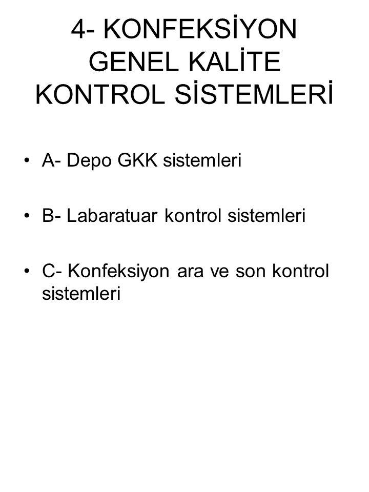4- KONFEKSİYON GENEL KALİTE KONTROL SİSTEMLERİ