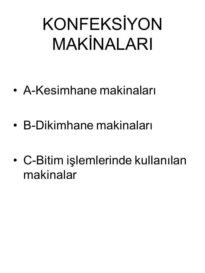 KONFEKSİYON MAKİNALARI