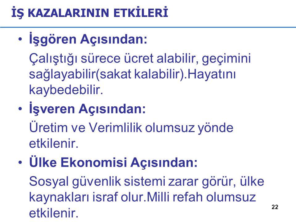 İŞ KAZALARININ ETKİLERİ