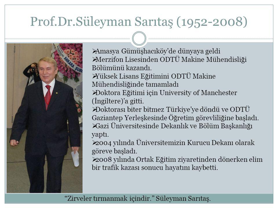 Prof.Dr.Süleyman Sarıtaş (1952-2008)