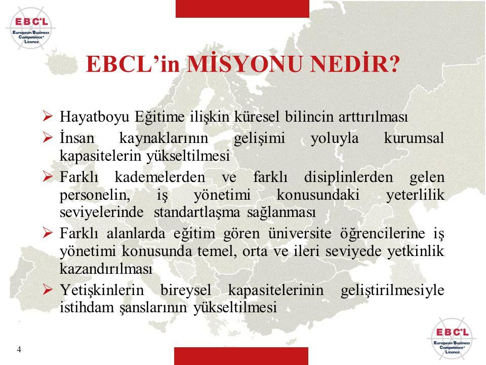EBCL'in MİSYONU NEDİR Hayatboyu Eğitime ilişkin küresel bilincin arttırılması.