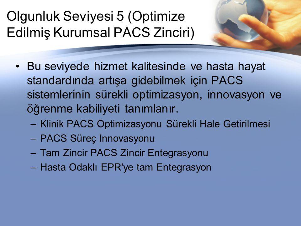 Olgunluk Seviyesi 5 (Optimize Edilmiş Kurumsal PACS Zinciri)