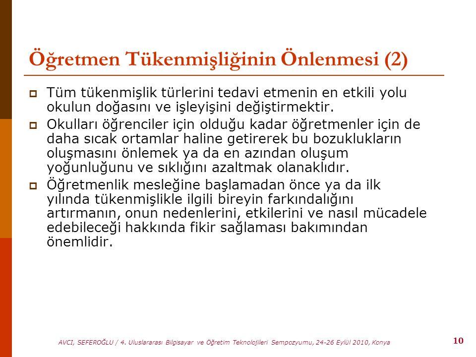 Öğretmen Tükenmişliğinin Önlenmesi (2)