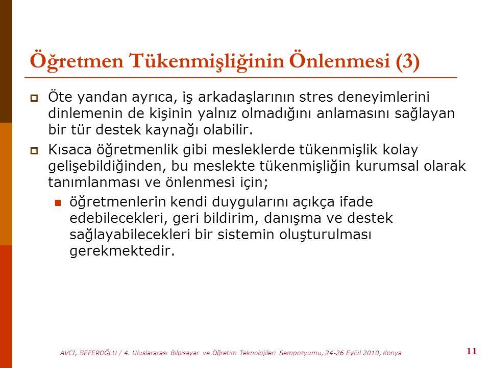 Öğretmen Tükenmişliğinin Önlenmesi (3)