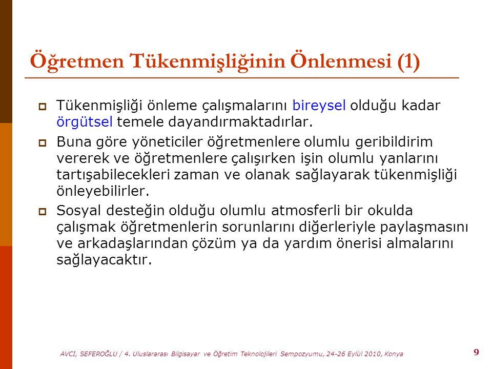 Öğretmen Tükenmişliğinin Önlenmesi (1)