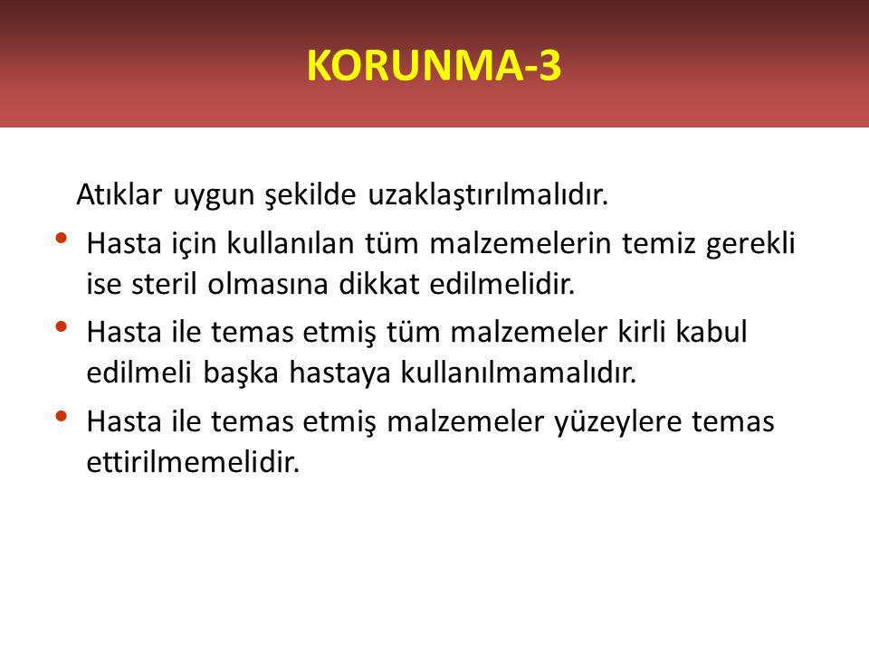 KORUNMA-3 Atıklar uygun şekilde uzaklaştırılmalıdır.