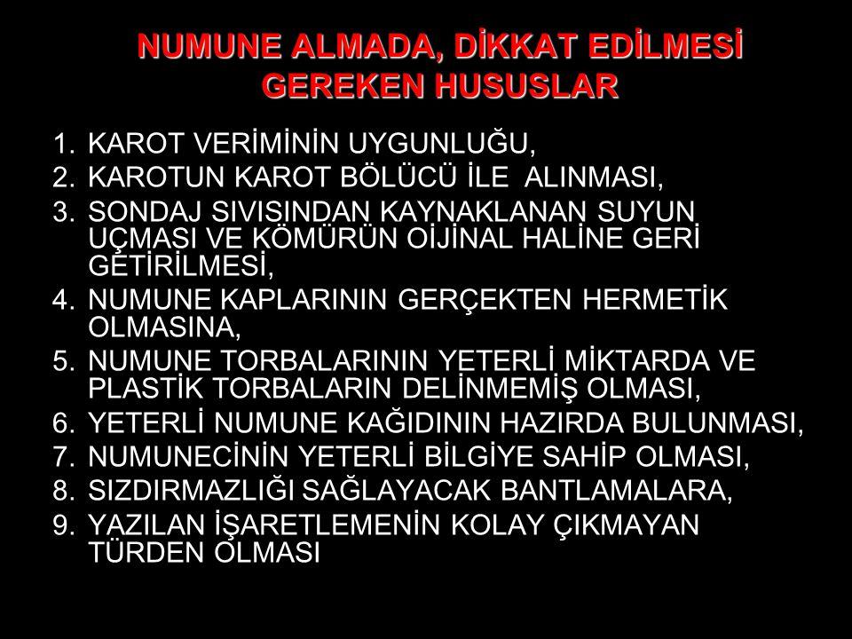 NUMUNE ALMADA, DİKKAT EDİLMESİ GEREKEN HUSUSLAR
