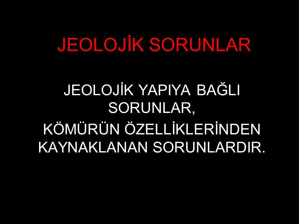 JEOLOJİK SORUNLAR JEOLOJİK YAPIYA BAĞLI SORUNLAR,