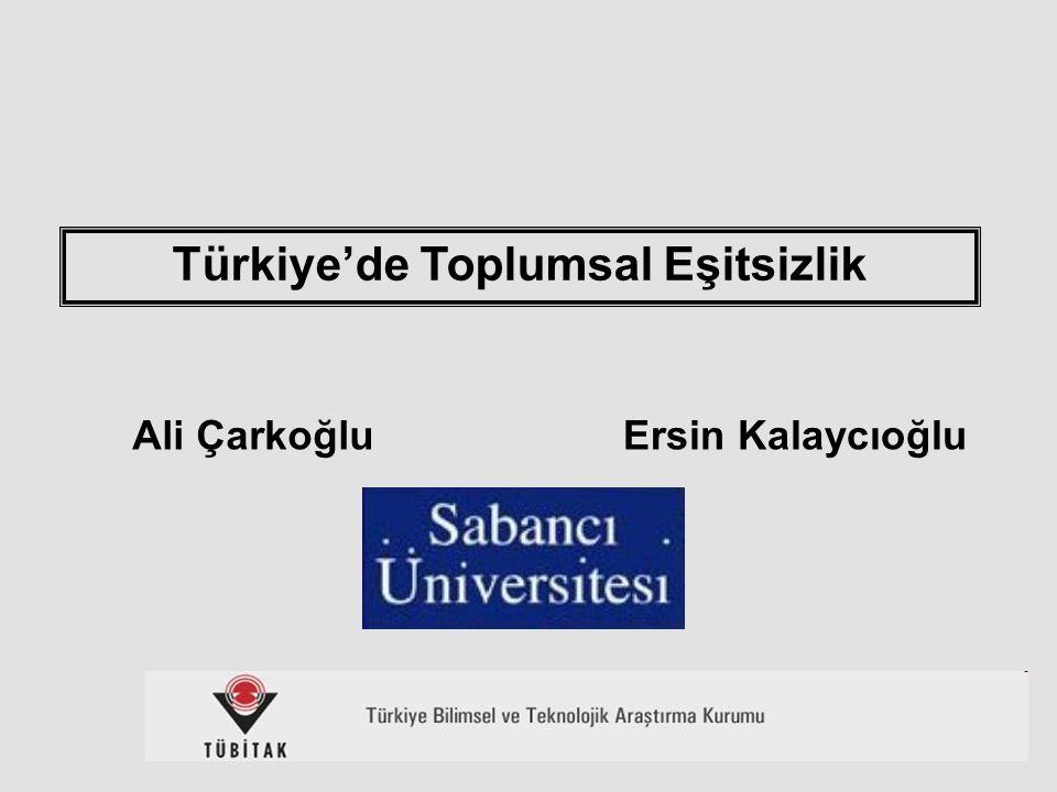 Türkiye'de Toplumsal Eşitsizlik