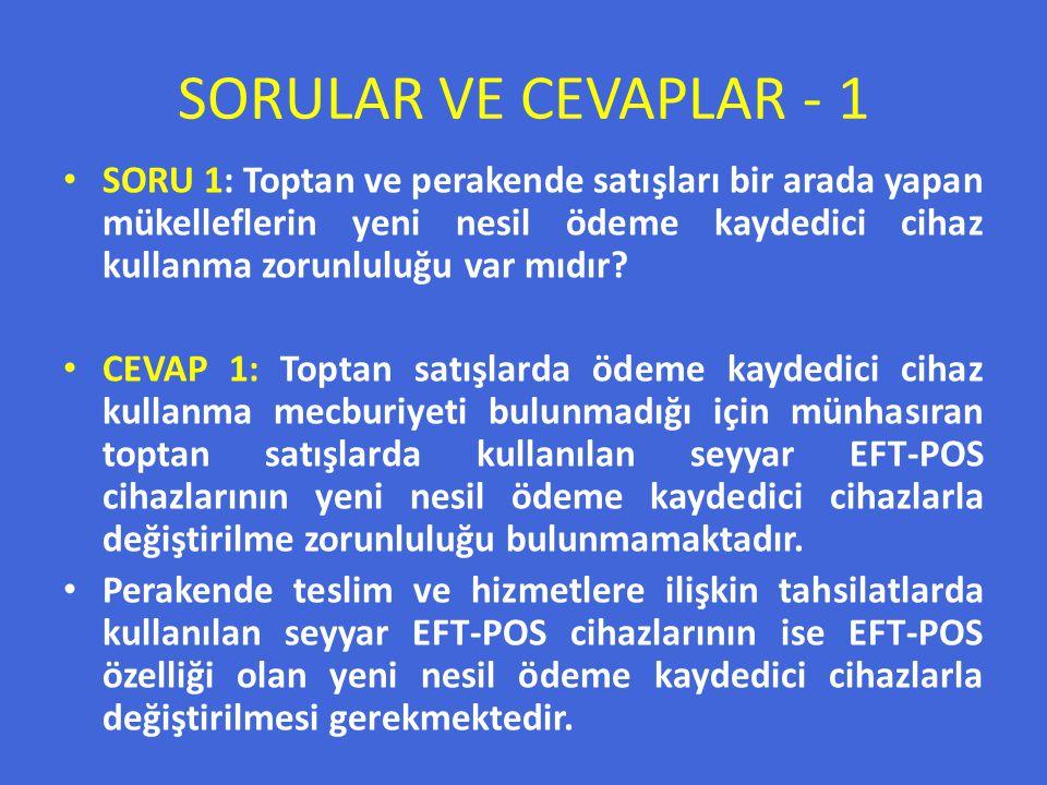 SORULAR VE CEVAPLAR - 1